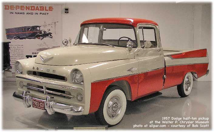 1957 Dodge Power Giant half-ton pickup trucks