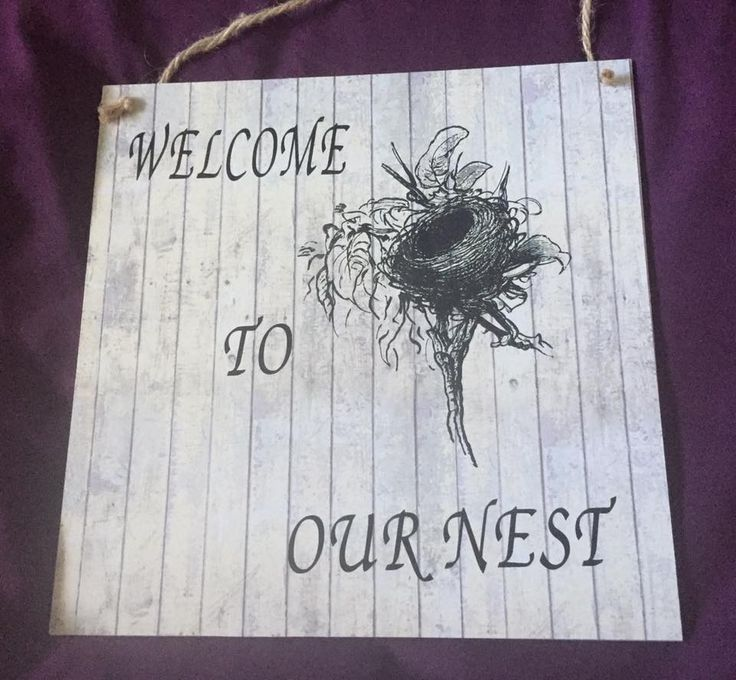 Made by Cathy Jackson - Screen Sensation Nest Screen for the print on a Docrafts paper mounted on a wooden plaque then the writing was cut from Vinyl on the Scan and Cut. Love both My Scan and Cut and the New Screen Sensation