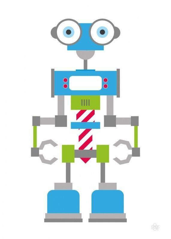 Poster - Robot Blauw