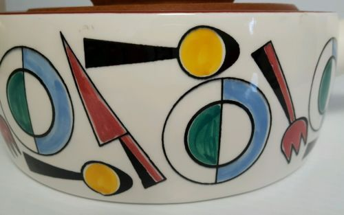 Raro-knabstrup-Seculo-dinamarques-Ceramica-Teca-coberto-Tigela-Terrina-cozidao-Pote