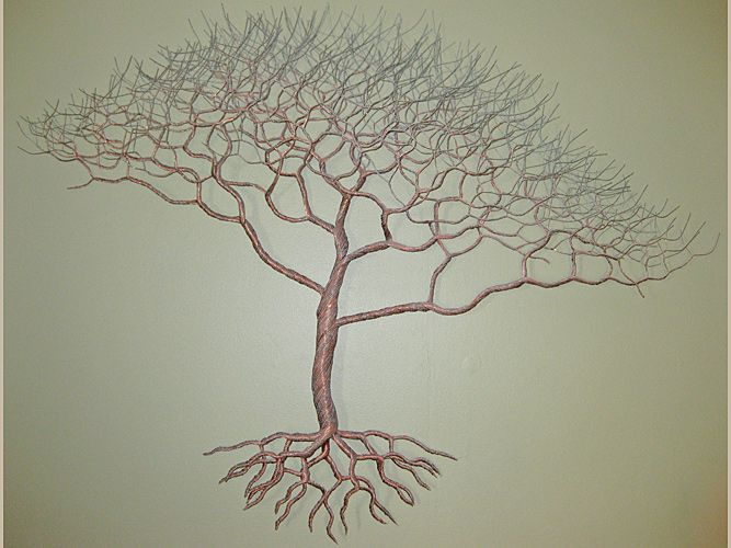 Unique wire tree sculpture by rob hagarty found in private and corporate collections worldwide find this pin and more on metal tree wall art