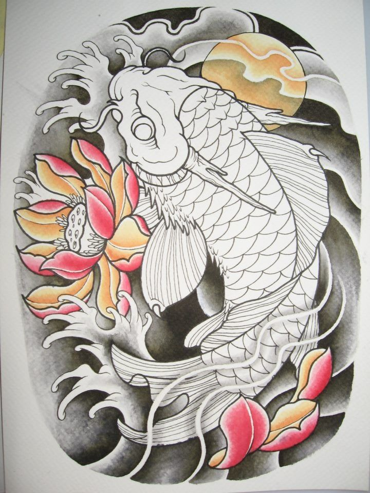 1227 best images about oriental tattoos on pinterest foo for Japanese koi dragon