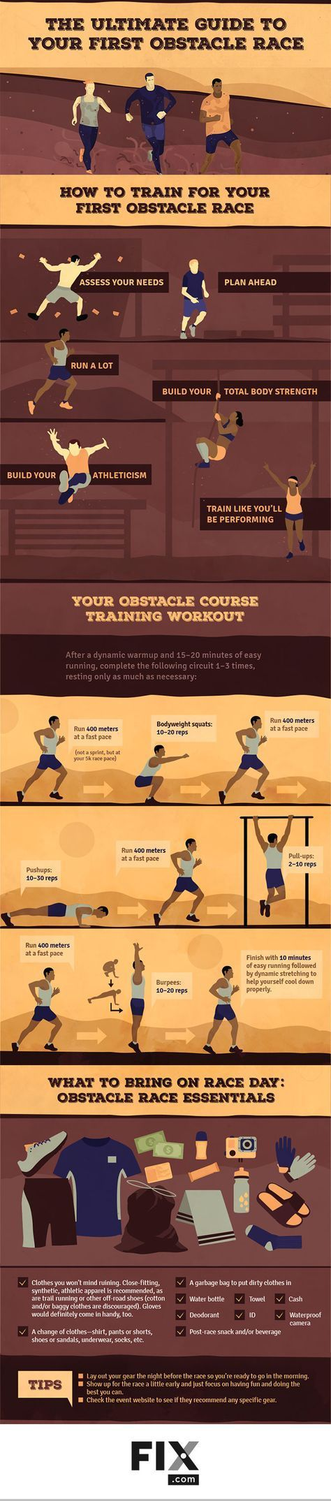Training for your first obstacle race can seem overwhelming, but fear not! Fitness expert Jason Fitzgerald has your ultimate guide to your first obstacle race! #running #obstaclerace #runningtraining