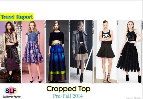 Cropped Top Fashion Trend For Pre-Fall 2014. More Cropped Top Fashion Trend For Pre-Fall 2014. Click on the Image to See it in a Full Size. January 17th, 2014  12:49 P.M. GMT.