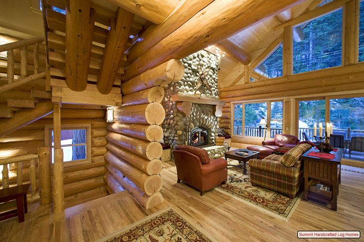 359 best images about log cabins on pinterest montana - Interior pictures of small log cabins ...