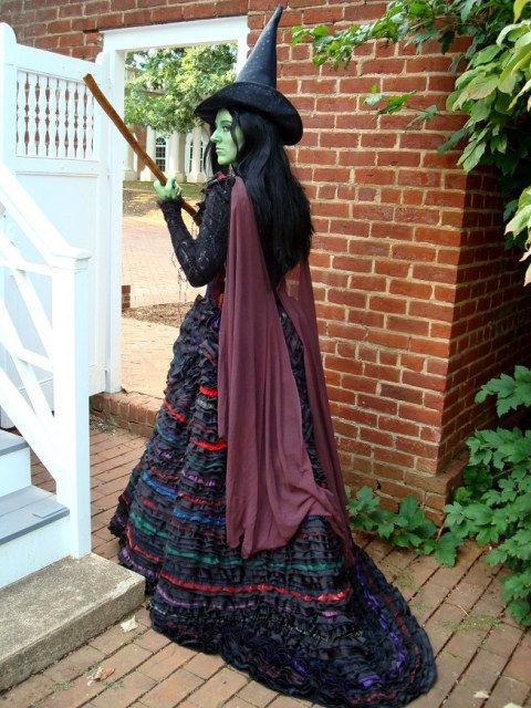 Elphaba cosplay from Wicked - for @Katie Swanson - Did you know that the original Broadway costume had 70 different fabrics?