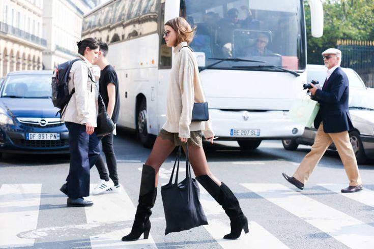 Paris Street Style Photos - Spring 2015 PFW Street Style Pictures - Elle#slide-1#slide-1