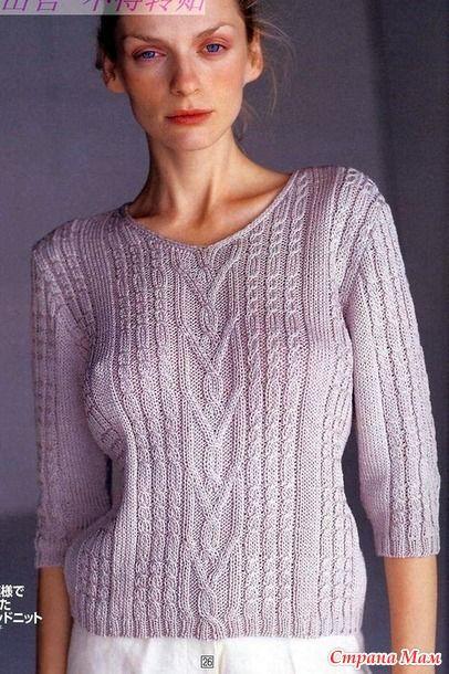 Пуловер с рукавами 318501675_91003. Спицы.