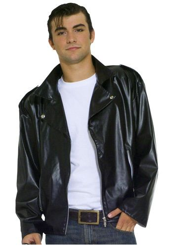 This Adult Plus Size Greaser Jacket is a must have accessory for a greaser costume. Become one of the members of the T-birds from Grease.