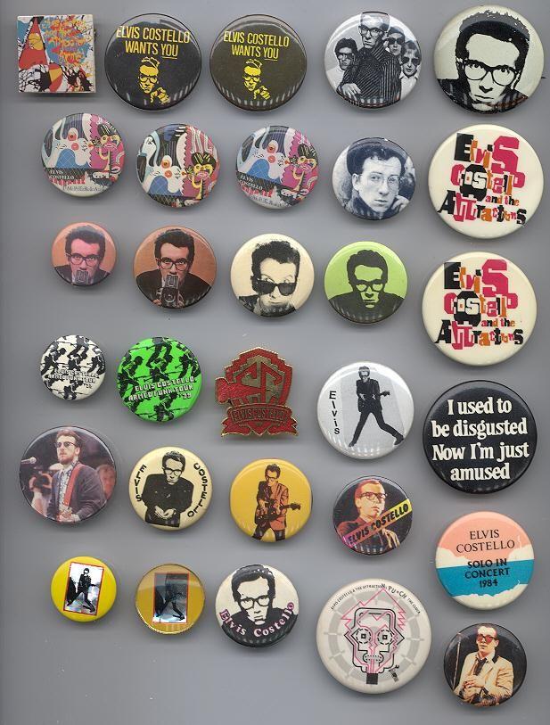 Elvis Costello Vintage TV Mens T-Shirt -