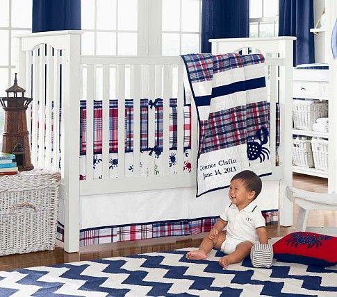 Crab Madras Nursery Per Bedding Set Crib Skirt Ed Sheet
