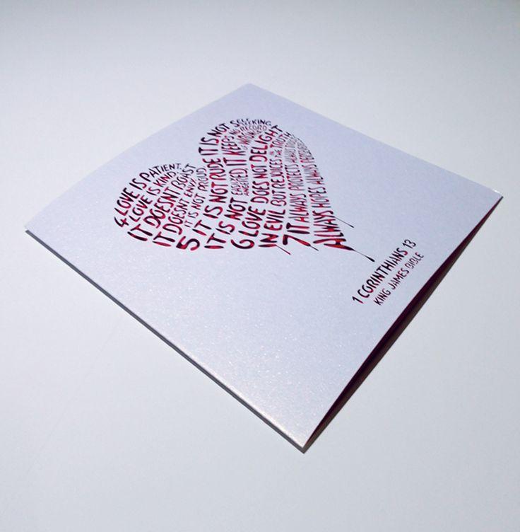 Wedding Day Anniversary Card Corinthians Love