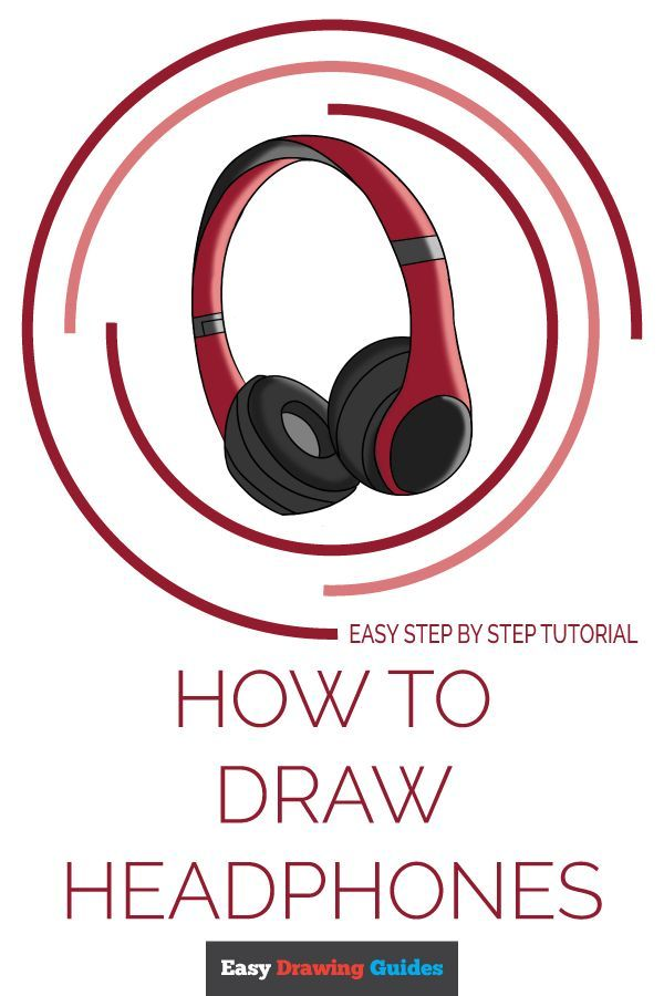 How To Draw Headphones In 2020 Drawing Tutorial Easy Headphones Drawing Easy Drawings