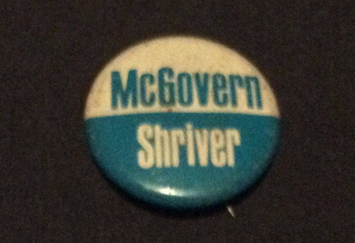 Vintage 1972 George McGovern and Sargent Shriver Democratic Presidential Campaign Political Pin Back Button by MargiesCoolStuff on Etsy