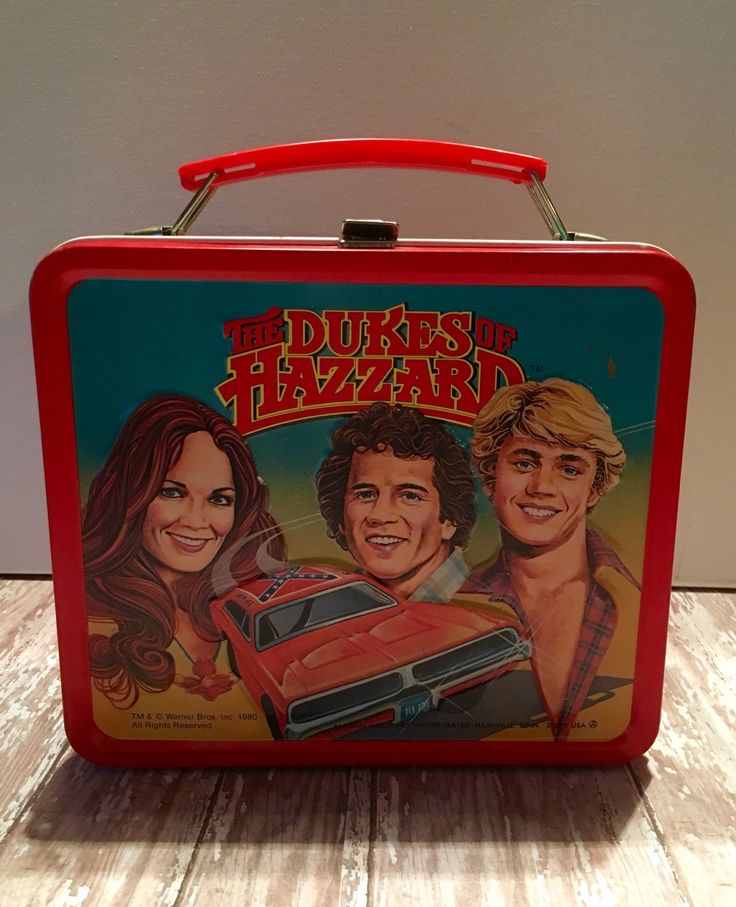 Vintage The Dukes of Hazzard 1980's Metal Lunch Box General Lee Bo Duke Luke Duke Daisy Duke Boss Hogg 1980 Aladdin Lunch Box by passedloves on Etsy