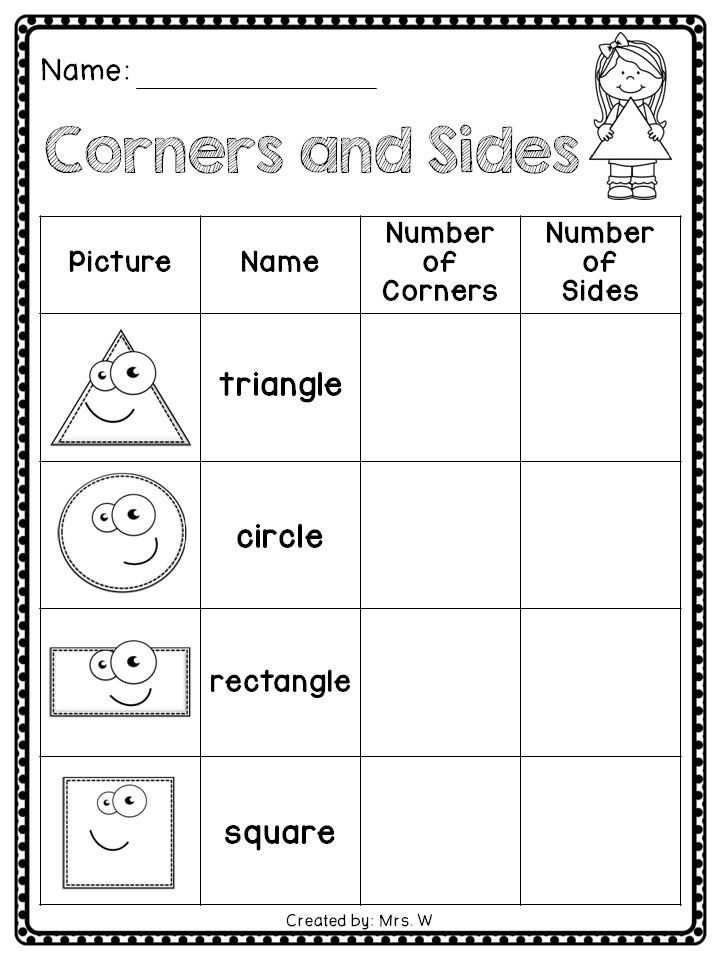 2D Shapes - Corners and Sides