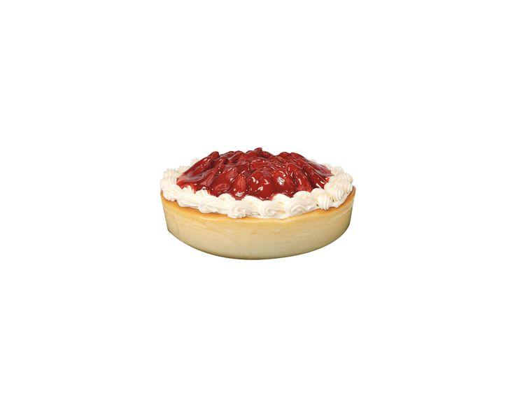 Cheesecake con fresa natural Pastel de queso con fresas naturales decorado con crema Chantilly y un glaseado de fresa. - Proveedor: Le Rochee SLP