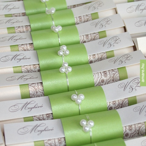 Roll Wedding Invitation