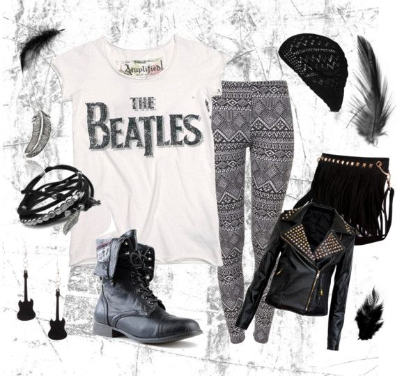 Can't decide if I'm pinning this because I actually would wear it of just because of the Beatles shirt...