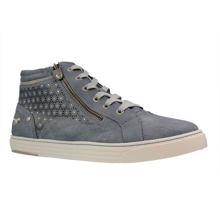 MUSTANG - 1246-502 - große Damen Sneaker - Blau Schuhe in Übergrößen Größe 42, 44, 45