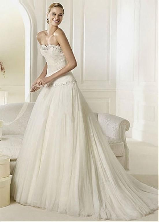CHARMING TULLE SWEETHEART NECKLINE A-LINE WEDDING DRESS LACE FORMAL PROM PARTY BALL GOWN CUSTOM SIZE