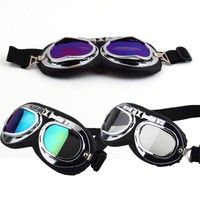 Wish | Vintage Anti-UV Motorcycle Scooter Pilot Goggles Helmet glasses Motocross