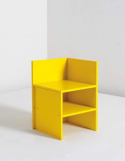 "DONALD JUDD ""Corner Chair #46,"" 1990"