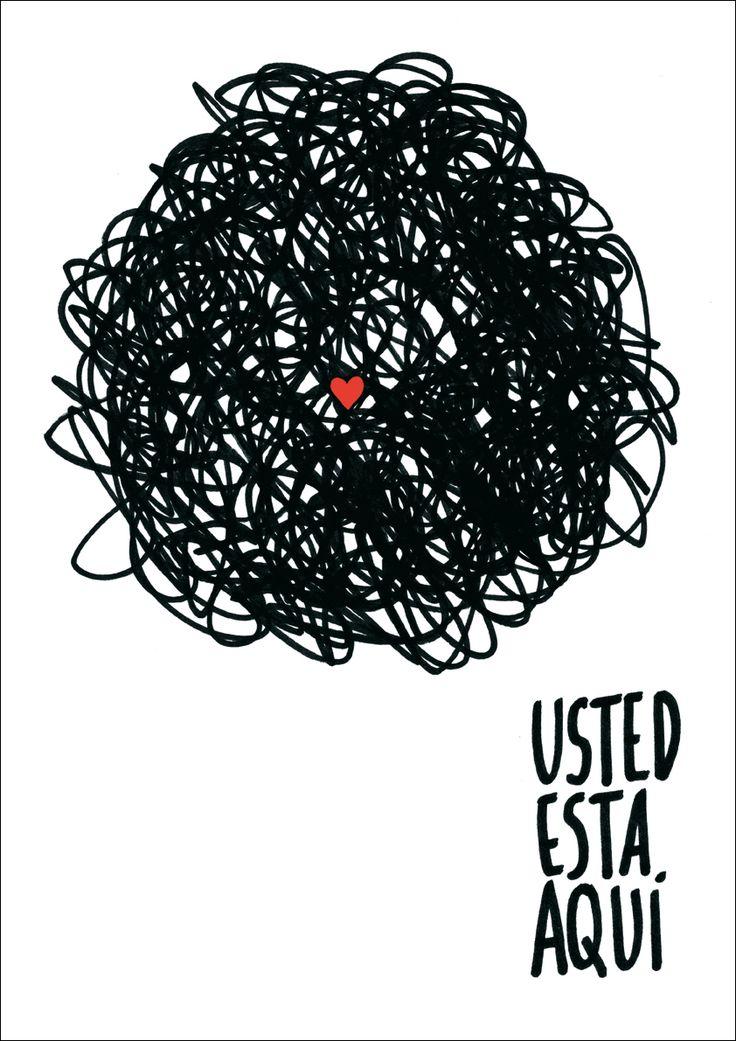 """""""Usted está aquí"""" (Alfonso Casas). Lámina a la venta en http://oleart.es/show/item/in/alfonso-casas/usted-esta-aqui-alfonso-casas. Fine art print available at http://oleart.es/en/show/item/in/alfonso-casas-en/usted-esta-aqui-alfonso-casas."""