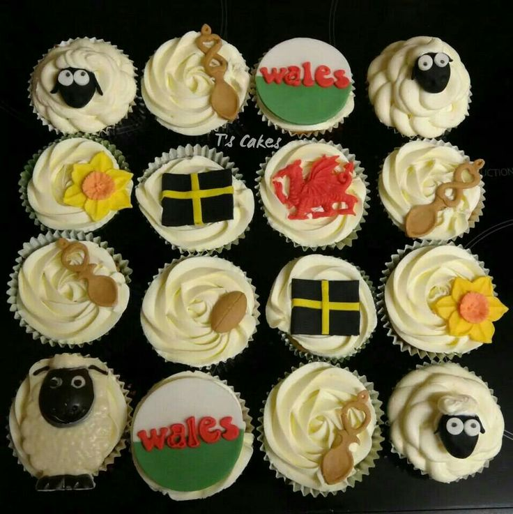 St Davids Day Welsh cupcakes