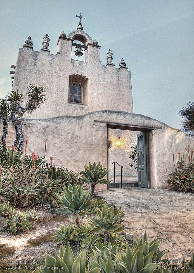Our Lady of Mount Carmel Church. Montecito, California.     Photographic Print.    http://www.BillHeller.com