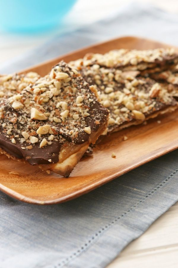 passover Chocolate toffee Matzo. I finish mine with some super-coarse sea salt. Great anytime of year... Mmm.