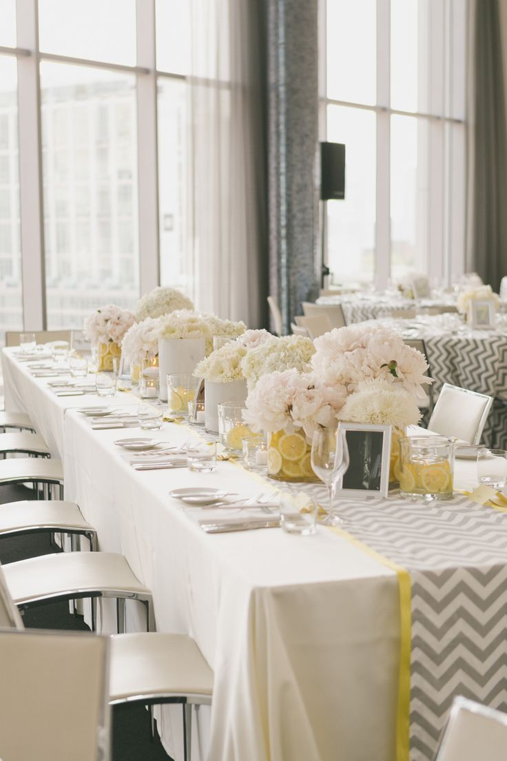 Photography: Mango Studios - mangostudios.com  Read More: http://www.stylemepretty.com/canada-weddings/2014/04/22/modern-gray-and-yellow-wedding-at-malaparte/