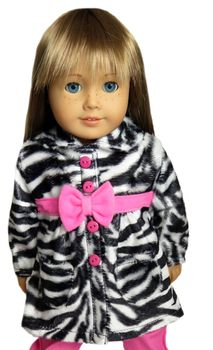 Zebra coat for American Girl Doll.