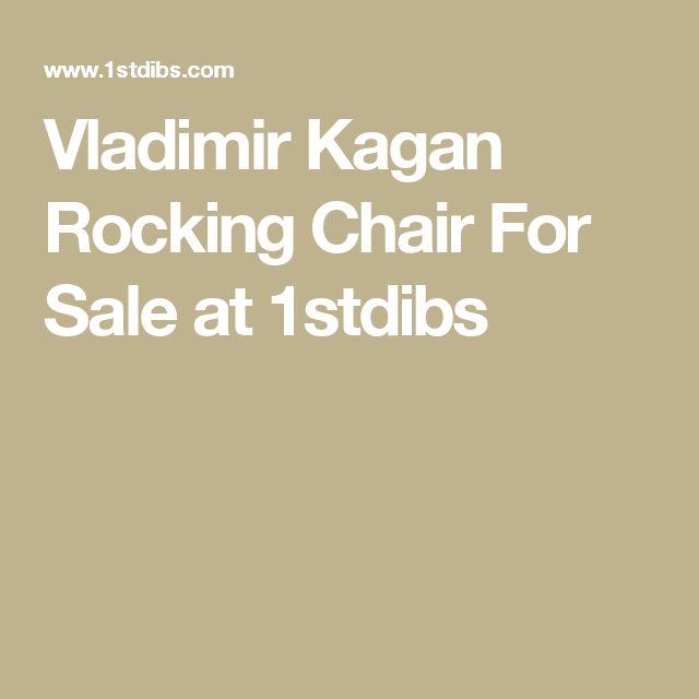 Vladimir Kagan Rocking Chair For Sale at 1stdibs