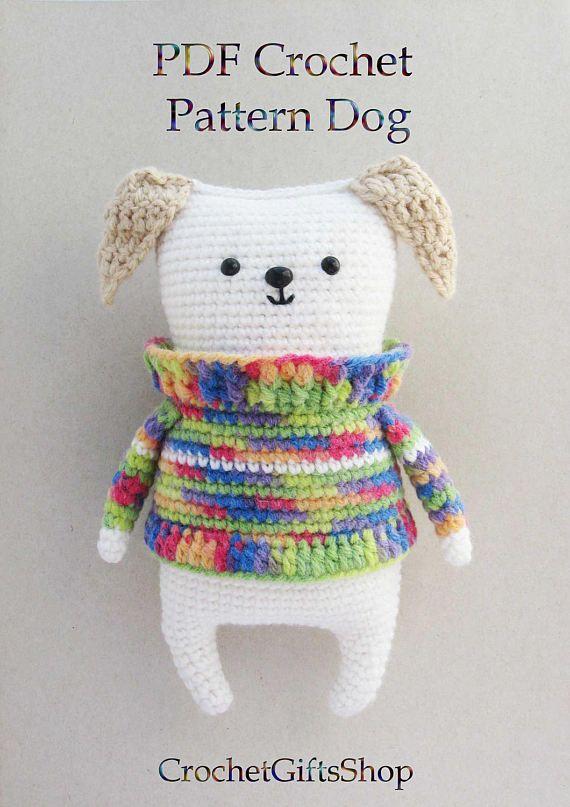 Amigurumi Dog Crochet pattern with Instant Download pdf Cute
