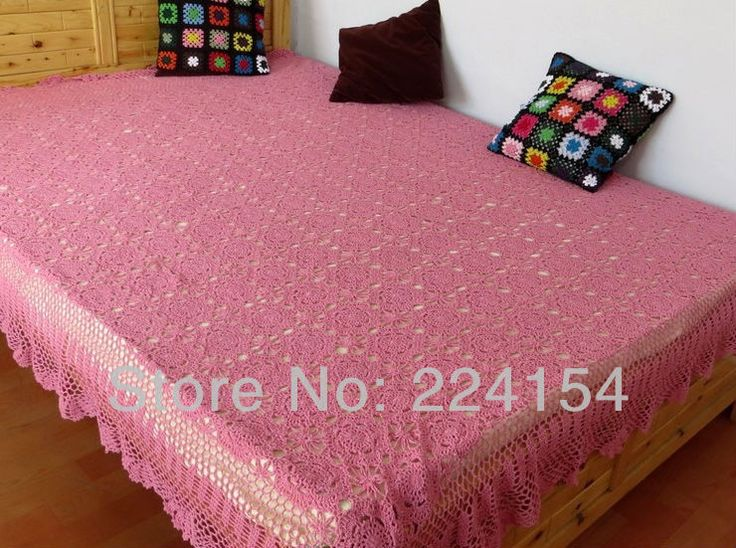 Aliexpress.com : Buy 190x220 CM lovely 100% handmade cotton hand crocheted pink bedspread cover  ~ FREE SHIPPING from Reliable Bedspread suppliers on Handmade Shop $128.00