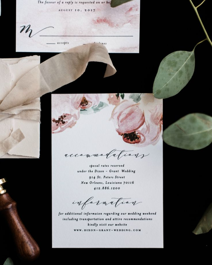 sample of wedding invitation letter%0A Romantic Watercolor Floral Wedding Invitations