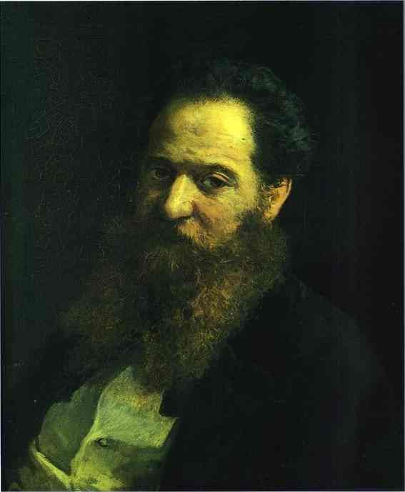 Portrait of the Physiologist Moriz Schiff, 1867  Nikolai Ge