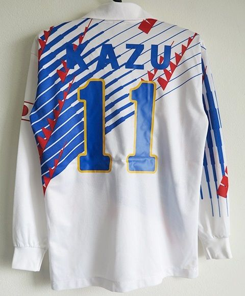 サッカー日本代表 1993AWAY長袖ユニフォーム#11三浦知良 カズ Lサイズ_画像2