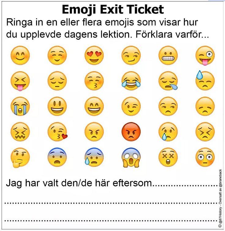 Emoji Exit Ticket ~ Kilskrift
