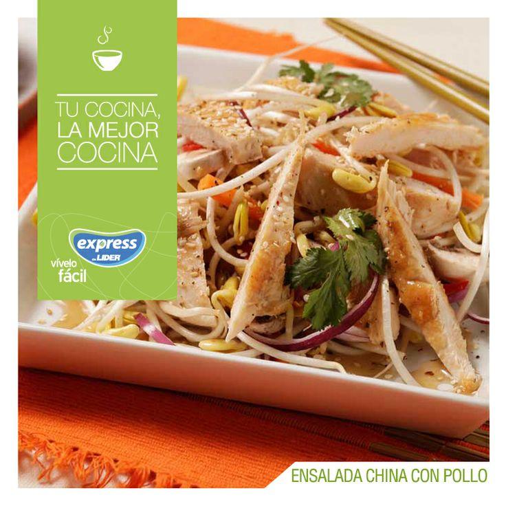 Ensalada china con pollo. #Recetario #Receta #RecetarioExpress #Lider #Food #Foodporn #Salad
