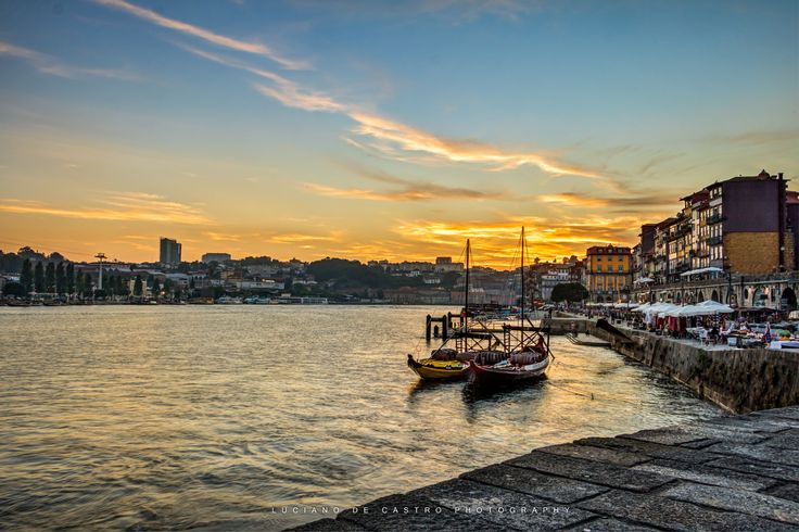 Sunset to Never Forget - Sunset at the Rio Douro in Porto, Portugal.