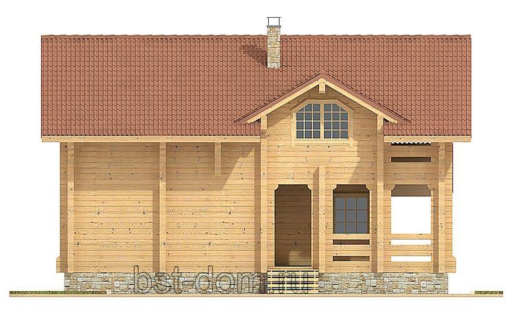 Проект дома из бруса № 9 - Строительство деревянных и каменных домов 8-9852240745.