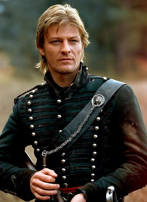 Sean Bean as rifleman Richard Sharpe.  Let us reflect that Sharpe is so badass, his may be the only action character portrayed by Sean Bean who has not been killed. The universe may have it out for Sean Bean's characters, but it can't take down rifleman Sharpe.