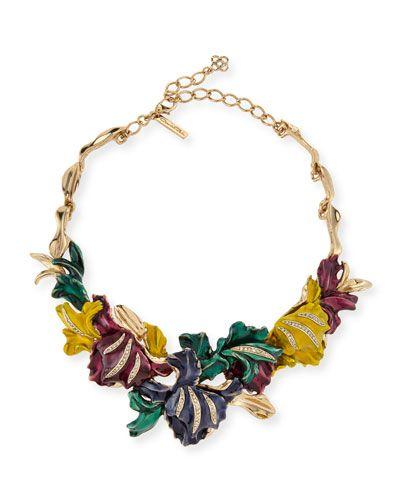 Y2YCT Oscar de la Renta Swarovski® Crystal Tulip Necklace
