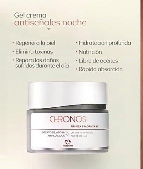 Gel Crema Antiseñales Noche Chronos