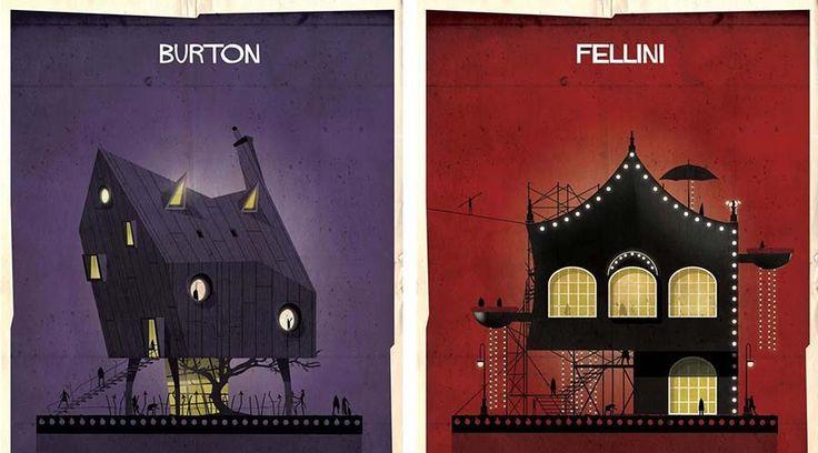 Как бы выглядели дома кинорежиссеров, если бы их дизайн был основан на их собственных фильмах. — Vinegret