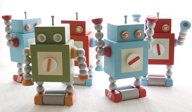 wooden robots @lambert werner
