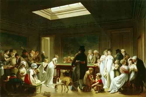 Л.Л.Буальи. Бильярд. 1807. Холст, масло. ГЭ