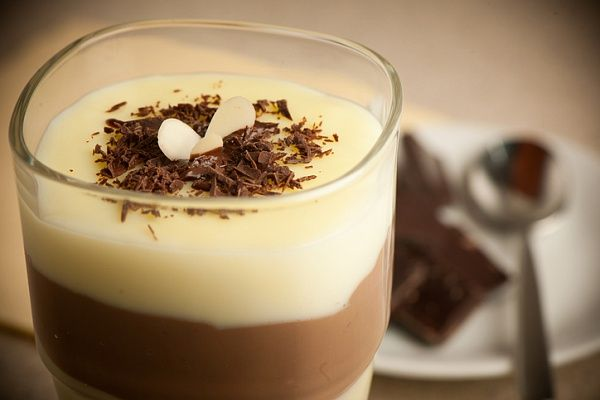 Пудинг из белого шоколада